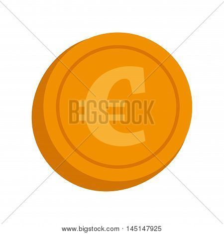 currency euro coin money isolated vector illustration eps 10