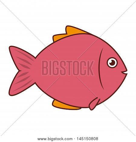 fish sea wildlife food icon isolated vector illustration eps 10