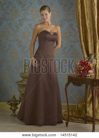 Brown Evening Gown