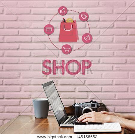 Shopping Online Buy Sale Shopaholics Concept
