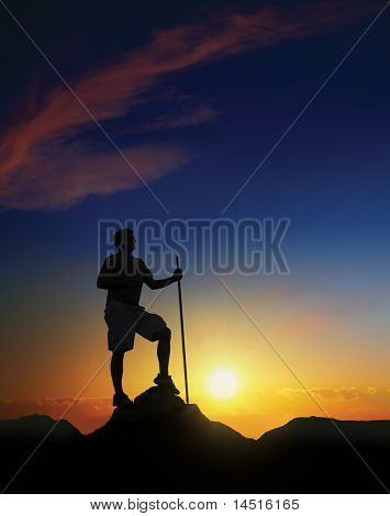 Summit At Dawn