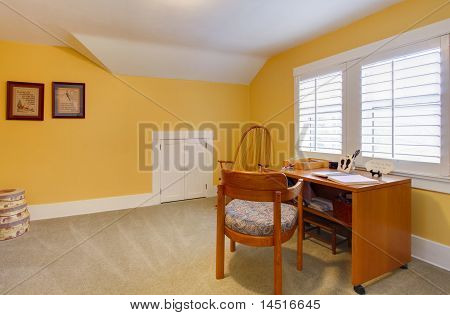 Yellow Happy Simple Home Office