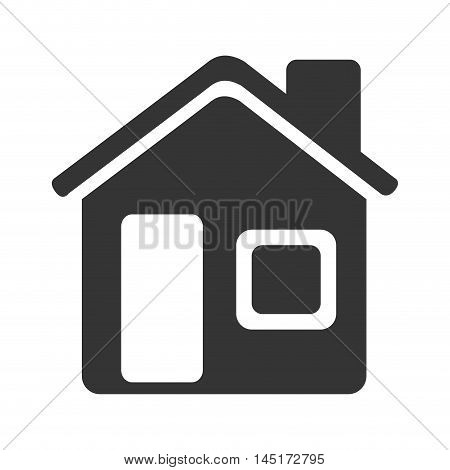 silhouette house home isolated vector illustration eps 10
