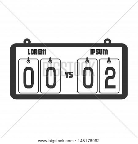 icon score board goals football american isolated vector illustration eps 10