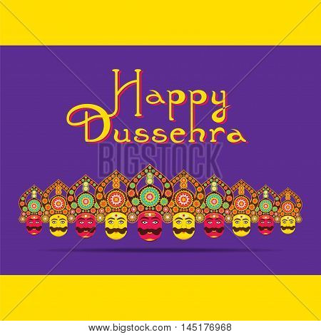 happy dussehra festival greeting or poster design