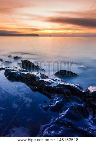 Sunrise On A Cornwall Beach