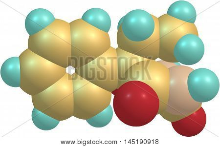 Phenobarbital or phenobarb is a medication recommended by the World Health Organization for the treatment of certain types of epilepsy in developing countries. 3d illustration