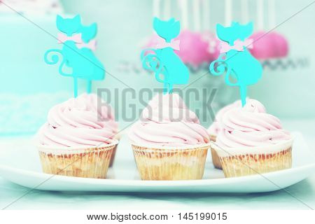 This is a photo of cute cupcakes