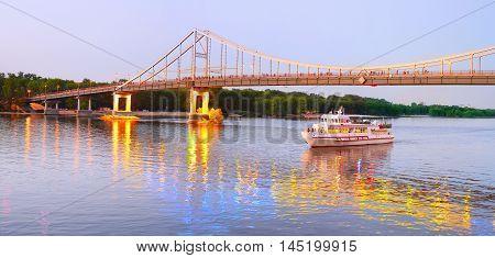 Pedestrian Bridge. Kiev, Ukraine.