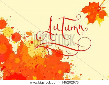Autumn In Watercolor Frame