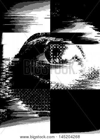 glitch eye background
