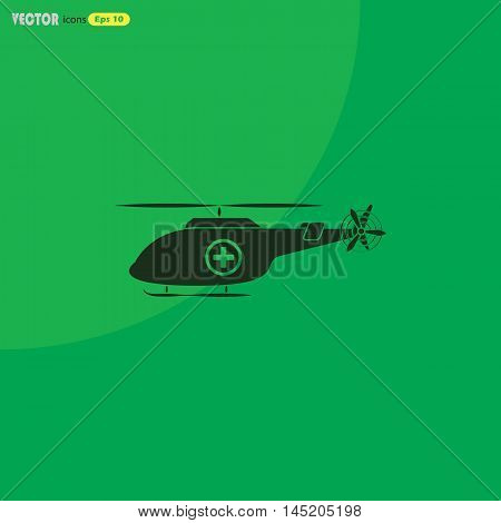 Medical helicopter  Vector icon for web and mobile. Medical collection