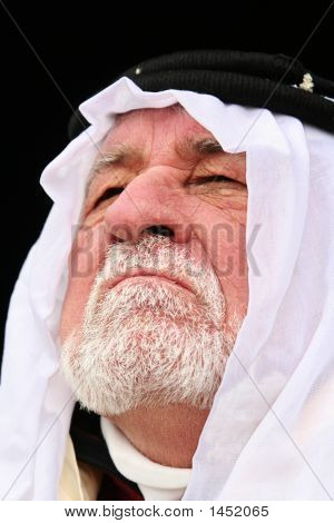 Middle East Man Close Up