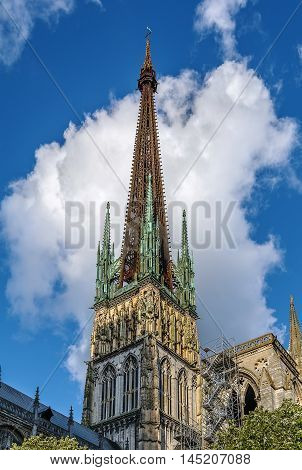 Rouen Cathedral is a Roman Catholic Gothic cathedral in Rouen Normandy France. Tower