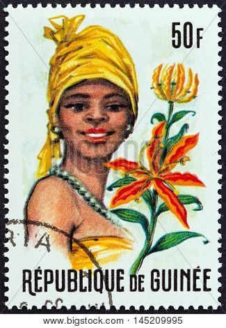 GUINEA - CIRCA 1966: A stamp printed in Guinea from the