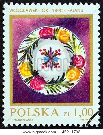 POLAND - CIRCA 1982: A stamp printed in Poland from the