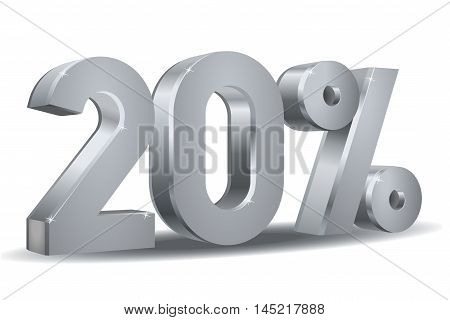 Vector of 20 percent in white background