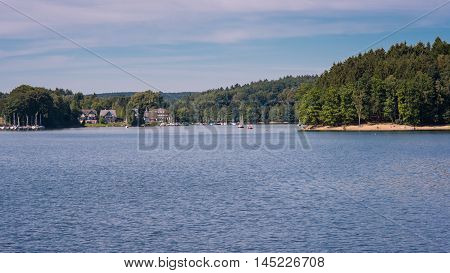 view over the bevertalsperre recreational area in Germany
