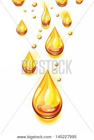 The raster version orange juice background. Juice drops.