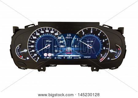 Dashboard And Digital Display - Mileage, Fuel Consumption, Speedometer Kph