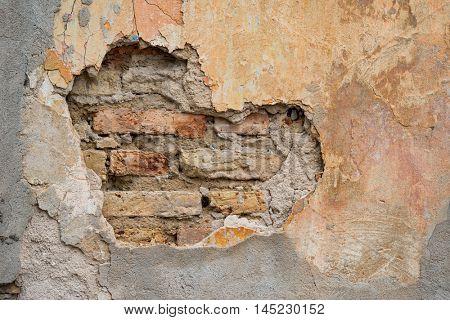 Damaged wall background