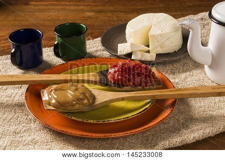 Typical Brazilian Specialty: Guava Paste With White Cheese, Locally Known As