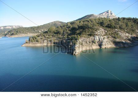 Lac Du Bimont And Massif Sainte-Victoire