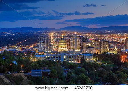Salt Lake City Skyline Utah