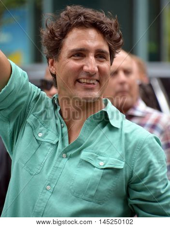 MONTREAL QUEBEC CANADA AUGUST 15 2016:Justin Pierre James Trudeau PC MP (born December 25, 1971) is a Canadian politician who is the 23rd Prime Minister of Canada, and the leader of the Liberal Party
