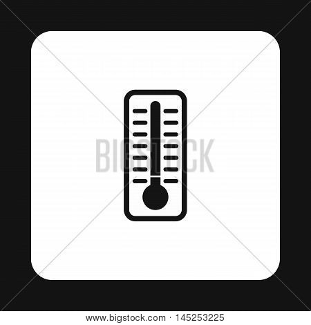 Thermometer indicates extremely low temperature icon in simple style on a white background