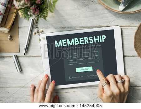 Member Log in Membership Username Password Concept
