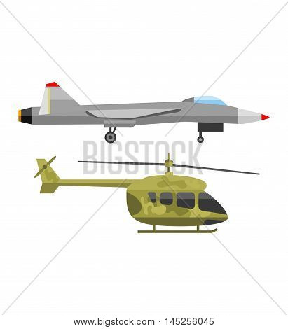 Military fighter jet soaring through air vector and fighter air speed aircraft fly war aviation. Wing army armed weapon technology fighter and fighter design navy isolated supersonic vehicle.