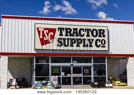 Muncie - Circa September 2016: Tractor Supply Company Retail Location. Tractor Supply is Listed on the NASDAQ under TSCO I
