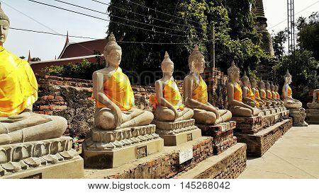 Thai ancient buddha. Thai buddha statue, Thai ancient buddha statue. Thailand