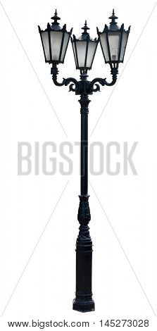 lamp post . street  lampost. streetlight collection. isolated on white background.