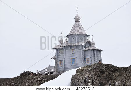 Orthodox church at the Antarctica, South pole