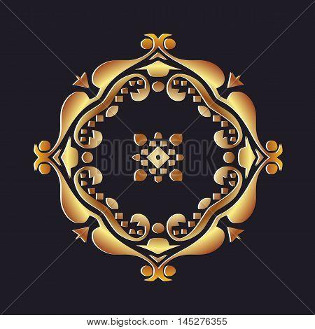Golden luxury style calligraphic vector design element.