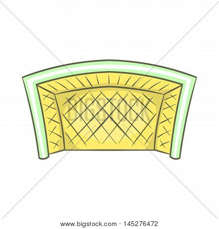 Football goal icon in cartoon style isolated on white background. Sport symbol