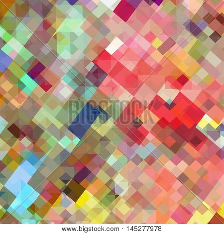 Art square mosaic background vector illustration. EPS 10.