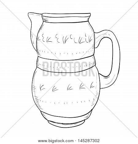 Vector Sketch Of Jug