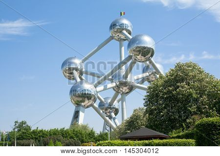 Brussels, Belgium - 13 May 2016: Atomium, The Building In Brussels Originally Constructed For Expo 5