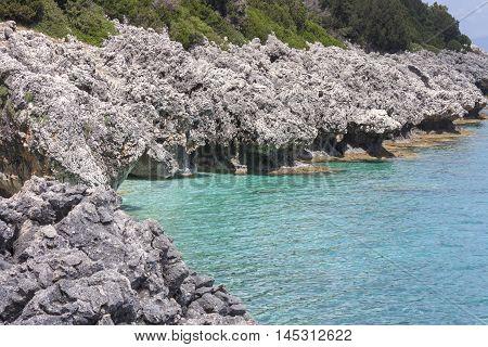 wonderful sea bay in Kefalonia, Ionian islands, Greece