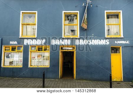 DINGLE IRELAND - CIRCA 2012: Old Irish pub