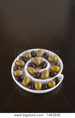 Olives In Spiral Dish
