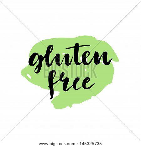 Hand Drawn Typography Gluten Free Design.
