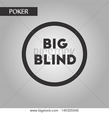 black and white style poker big blind