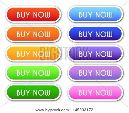 Collection Of 'buy Now' Buttons