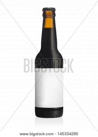 Bottle Of Black Sout Beer Witih A Blank Label