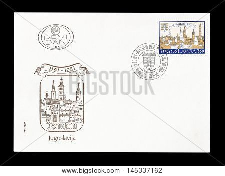 YUGOSLAVIA - CIRCA 1981 : Cancelled First Day Cover letter printed by Yugoslavia, that shows Varazdin.