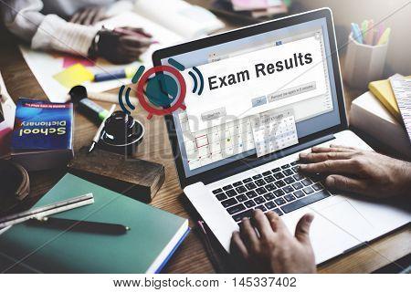 Exam Results Examination Grade Education Score Concept